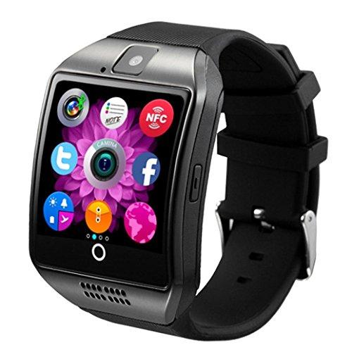Smart Uhren Pulsuhren, Xjp Bluetooth Smart Wristwatch with Curved Surface Camera (Black) -