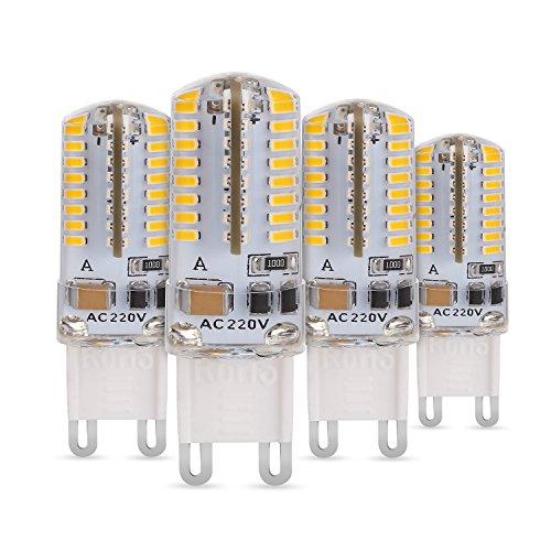 Albrillo 3W G9 LED Lampe 64*3014 SMD Warmweiß (3000 Kelvin), 190 Lumen, AC 230V, 4er Pack