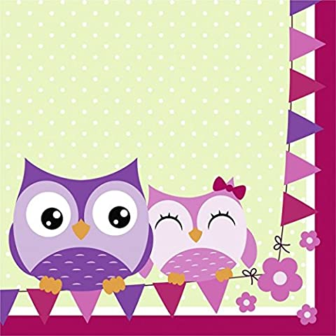 Owls Luncheon Napkins 33cm 2ply 20 PCK