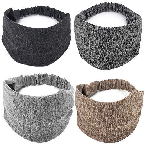 Devlin Stirnband extra breit Stirnband Turban Jersey Stirnband Extra Breit Stirnband Yoga Stirnband Boho Head Wrap (Damen, Teenager) Poly Turban