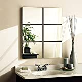 [Sponsored]Wall1ders 6-inch Square Silver 3D Acrylic Mirror Wall Stickers For Home And Office-Factory Outlet(Pack Of 6)