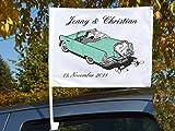 "Autoflagge/Autofahne – bedruckt ""Just Married 3"