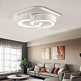 WYBAN 64W LED C Förmige Weiß Deckenleuchten Panel Energiespar Lampe Perfekt  Für Korridor Wohnzimmer Schlafzimmer Deckenlampen ,Kalteweiß Ohne Fb
