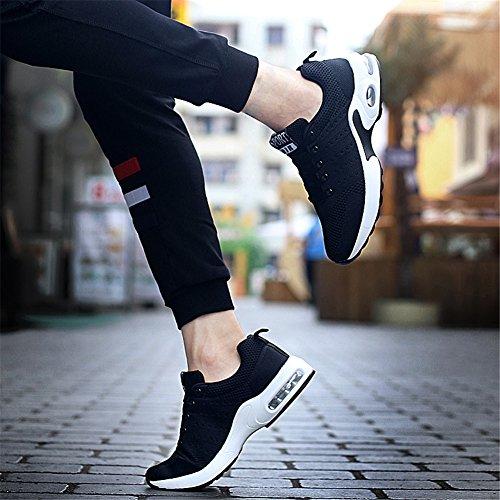 MIMIYAYA Donna Air Scarpe da Ginnastica Corsa Sportive Running Fitness Sneakers Basse Interior Casual all'Aperto Leggero e Traspirante 34-40EU Bianco e nero