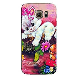 CUTE WHITE CAT BACK COVER FOR SAMSUNG S6 EDGE PLUS