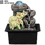ASDAHSFGMN Fontane per Interni Fontane Decorative in Resina Artigianato Regali Miniature per Desktop Domestico Fontana Feng Shui