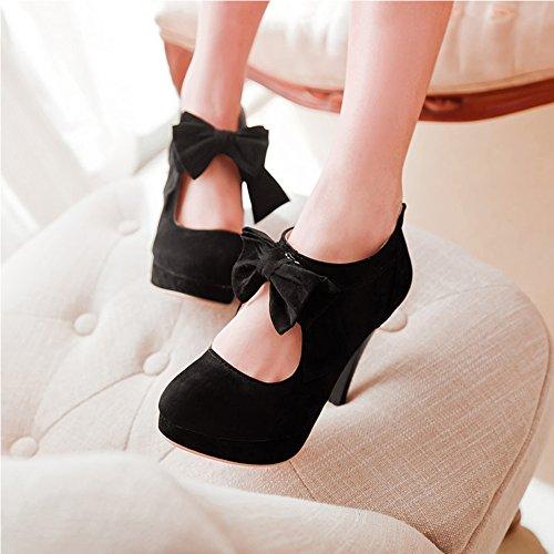 Escarpin femme à talons aiguille chaussure de talon avec bowtie Rouge