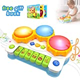 ACTRINIC Baby Musical Toys Drums Piano Musical Instrument,Learning and Development Early Educational Game With Light And Music Set for Girls And Boys Toddlers 1,2,3 Years Old