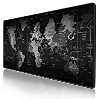 Gaming Mouse Pad XXL,Anti-Skid Mousepad Extended Super Large World Keyboard Mouse Pad (900x400mm)