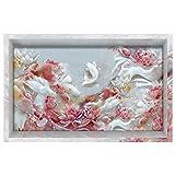 Vitila Kreative Aufkleber Wohnkultur Wohnzimmer Schlafzimmer Bad Persönlichkeit 3D Wandaufkleber Lotus Kleine Fische Selbstklebende Poster PVC Abnehmbare Tapete Wandtattoos