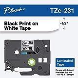 Brother Original P-touch Schriftband TZE231 (kompatibel mit Brother P-touch PT-H100LB/R, -H105, -E100/VP, -D200/BW/VP, -D210/VP)