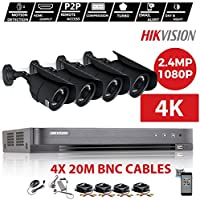 HIKVISION 4 CH DVR CCTV KIT & 4 X 2,4 MP SONY CMOS 1080P Full HD gris camaras fácil P2P remover la vista EMAIL ALERT (no HDD INCLUDE)