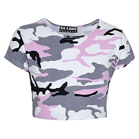 Kids Gilrs CamouFlage Print Crop Top Legging Jacket Hoodie & Bottom Tracksuit New Age 5 6 7 8 9 10 11 12 13