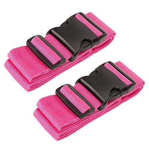 Luxebell Gepäckgurt, 2 Stück Koffergurt Kofferband Koffer Gepäckgurte Lang