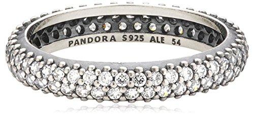 Pandora - 190909cz, anello in argento 925 con zirconia donna, 14