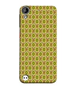 PrintVisa Designer Back Case Cover for HTC Desire 530 (Matty Box Design Texture Matefinish Check Dark Green)