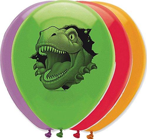 6 Globos de cumpleaños Dinosaurio - Única