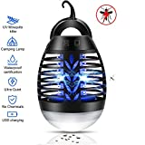 Mosquito Bug Zapper, Mosquito Killer Camping Lamp Electric 2 In 1 Waterproof UV