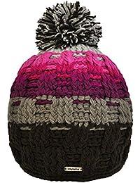 Toutacoo, Bonnet Multicolore à Pompon Tricoté Main au Népal