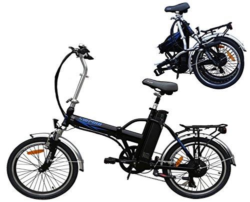 20 Zoll Swemo Alu Klapp E-Bike / Pedelec Sw 100 Neu (Schwarz)