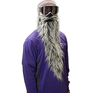 Beardski Easy Rider Skimaske mit Bart Grau
