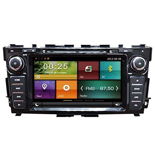 autosion Auto DVD Player GPS Radio Stereo Haupteinheit für Nissan Teana Altima 2013-2017Auto Navigation Audio Kapazitive Touchscreen Bluetooth A2DP USB SD Lenkrad Control (Nissan Altima Auto Radio)