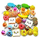 Squishy Toy, Chickwin Randomly Jumbo Slow Rising Cute Squeeze Bread Cake Donuts ect Stress Relief Toy (10pcs)