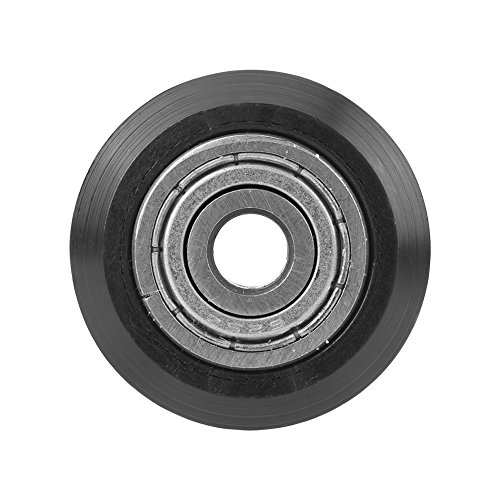 Passives rundes Rad,Kunststoffrollenlager 3D Drucker V-Slots Modelle Riemenscheibe, 3D-Drucker-Zubehör POM Kunststoff Rillenkugellager Passive Runde Räder Roller,10 Stücke