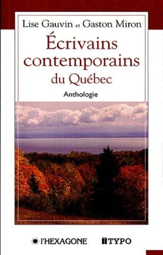 Ecrivains Contemporains du Quebec