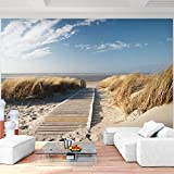 Fototapete Strand 352 x 250 cm - Vliestapete - Wandtapete - Vlies Phototapete - Wand - Wandbilder XXL - !!! 100% MADE IN GERMANY !!! Runa Tapete 9008011b