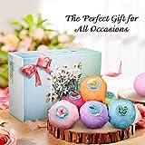 Kit Bombes de Bain Y.F.M -Coffret Cadeau de Luxe 6 Packs -Ingrédients 100% Naturel Essentielle Huile Boules-Coffret Bain, Faites Main-Cadeau Parfait pour Noël -Anniversaire, les Souvenirs-6 Choix
