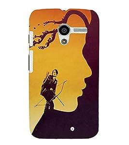 FUSON Woman Archer Against Storm 3D Hard Polycarbonate Designer Back Case Cover for Motorola Moto X :: Motorola Moto X (1st Gen) XT1052 XT1058 XT1053 XT1056 XT1060 XT1055