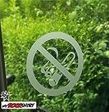 Rauchverbot Aufkleber Scheibe Frost Milchglas Rauchen verboten 15 cm Aufkleber Autoaufkleber Auto Tuning Sticker Aufkleber mit Montage Set inkl.