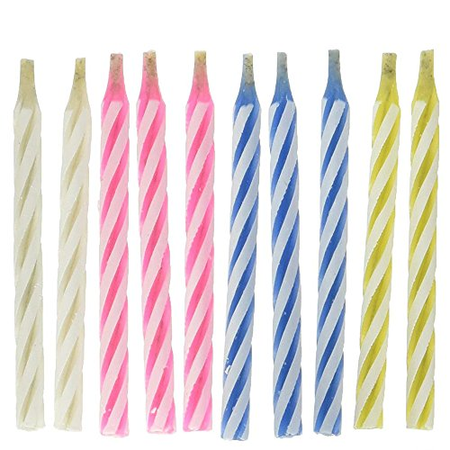 Magische Kerzen mit Halter Nicht ausblasbare Geburtstagskerzen Tortenkerzen für Weihnachten Halloween Hochzeit Geburtstag Party Feiern - 10 Stücke (Mehrfarben)