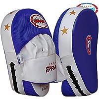 Farabi Almohadillas de enfoque curvado, guantes de gancho y jab, almohadillas de entrenamiento de boxeo, piel sintética resistente (envío libre)