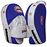 Curved Focus Pads, Hook & Jab Mitts, Boxing Training Pads, tough synthetic leather (free shipping)