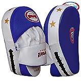 Curved Focus almohadillas, Gancho y Jab guantes, almohadillas de entrenamiento de boxeo (piel sintética, rígida (envío gratuito)