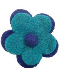 Broche fleur marguerite -Feutre - fabriqué à la main - Fair Trade - Lot de 1
