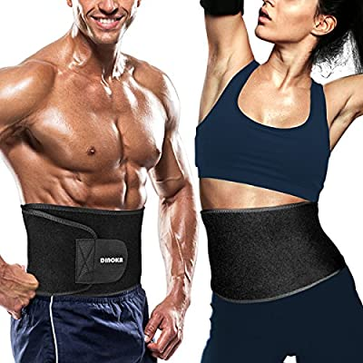 DINOKA Lumbar Support Belt Brace for Men and Women, Dual Adjustable Lower Back Support Belt for Exercise Sports Work by DINOKA