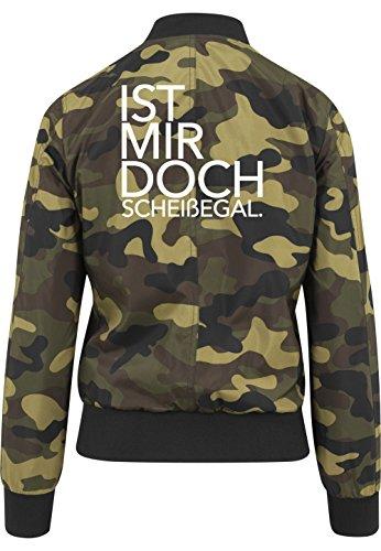 Ist Mir Doch Scheißegal Bomberjacke Girls Camouflage Certified Freak-M