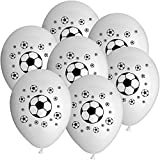50x Rundballons 'Fussball' weiß Ø25cm + PORTOFREI mgl + Glückwunschkarte + Helium & Ballongas geeignet. High Quality Premium Ballons vom Luftballonprofi & deutschen Heliumballon Experten