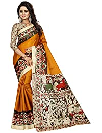 Calendar Women's Khadi Silk Saree With Khadi Silk Blouse Piece(MUSTARD)