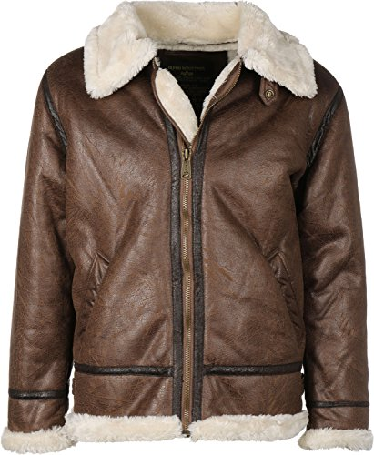 Alpha Industries Jacke B3 FL Braun