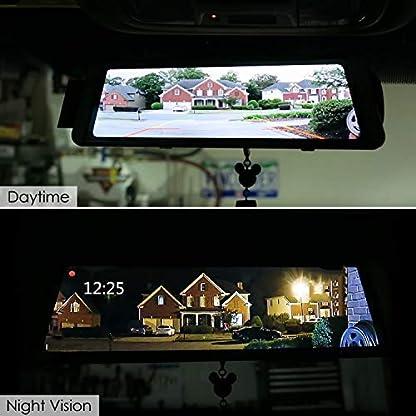 Eyesun-Cam-Stream-Media-Rckspiegel-Dash-Cam-1296P-Full-HD-10-Zoll-Touchscreen-mit-GPS170–Weitwinkel-Frontkamera-Videorecorder-und-wasserdichte-RckfahrkameraParkmonitorHDR-Nachtsicht
