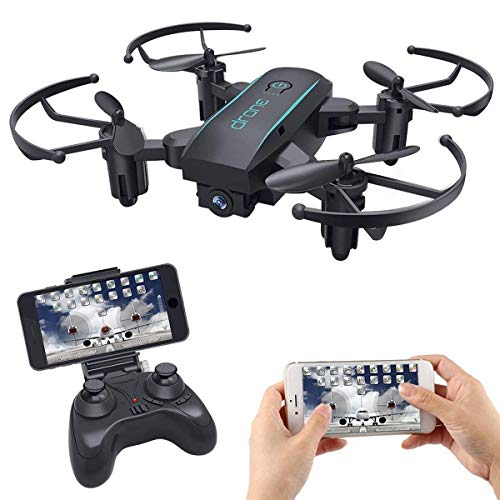 Mini FPV Drohne, RC Racing Drohne mit Live Video der WiFi Kamera HD 720P, RTF Rc Quadcopter-Hubschrauber mit Höhenstand, Headless Modus, Sprachsteuerung, One Key Return, Micro Drone zum Lernen