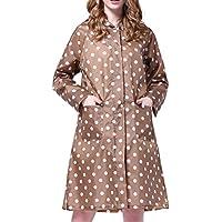 Gabardina impermeable de lunares para mujer, chubasquero, poncho, abrigo impermeable con puntos