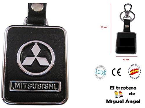 Llavero cuero y metal Mitsubishi