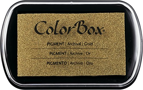 ColorBox, 1 x Metallpigmenttinte Pad-Gold.