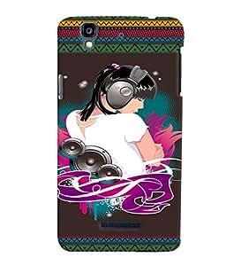 Fuson 3D Printed Music Girl Designer back case cover for YU Yureka - D4185