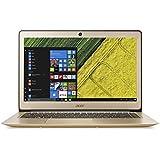 "Acer Swift 3 - Ordenador Portátil de 14"" FullHD (Intel Core i7-7500U, 8 GB RAM, 256 GB SSD, Intel HD Graphics 520, Windows 10); Dorado - Telcado QWERTY Español"